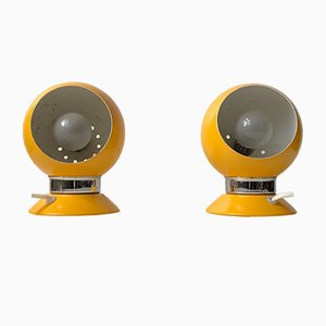 Danish Space Age Wall Lights from ABO, 1970s, Set of 2