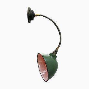 Applique Industrielle Vintage en Émail Vert