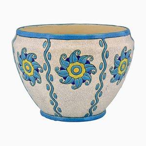 Art Déco Pflanzer aus Keramik von Charles Catteau für Boch Freres, 1920er