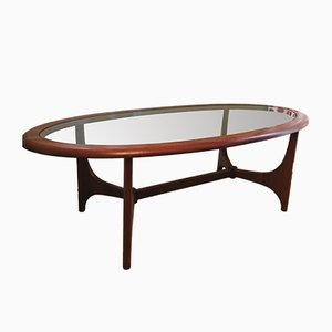 Mid-Century Teak & Glass Coffee Table from Stonehill