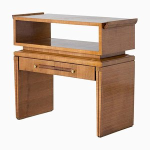 Art Deco Walnut Console Table