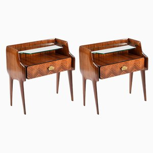 Rosewood Nightstands from Mobilificio Dassi, 1950s, Set of 2