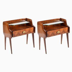Tables de Chevet en Palissandre de Mobilificio Dassi, années 50, Set de 2