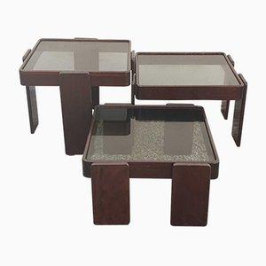 Tavolini ad incastro di Gianfranco Frattini per Cassina, anni '60
