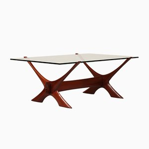 Wood & Glass Coffee Table by Fredrik Schriever-Abeln, 1960s