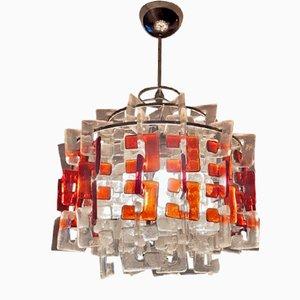 Lámpara de araña de Carlo Nason para Mazzega, años 60