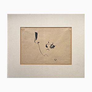 Tuschezeichnung von Julius Heinrich Bissier, 1956