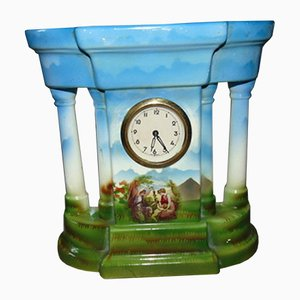 Antique Porcelain Fireplace Clock