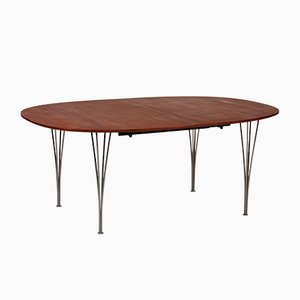 Mahogany Dining Table by Piet Hein for Fritz Hansen, 1990s