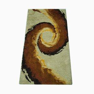 Alfombra Rya escandinava abstracta, años 70