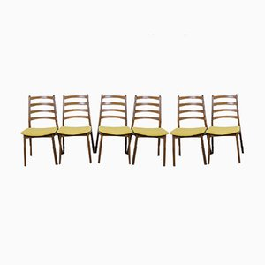 German Walnut Dining Chairs, 1960s, Set of 6
