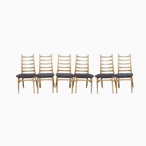 Deutsche Esszimmerstühle aus Buche, 1960er, 6er Set