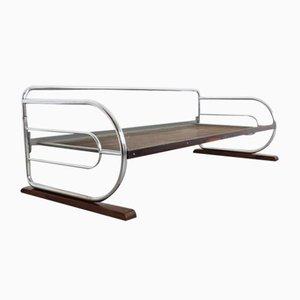Dormeuse Bauhaus in acciaio tubolare cromato, anni '30