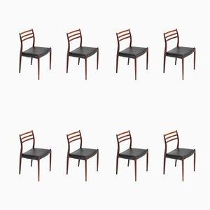 Chaises de Salle à Manger 78 en Palissandre par Niels Otto Møller pour J. L. Møllers, 1954, Set de 8