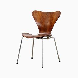 Sedia da pranzo nr. 3107 in palissandro di Arne Jacobsen per Fritz Hansen, 1964
