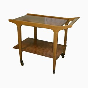 Mid-Century Wood and Formica Trolley