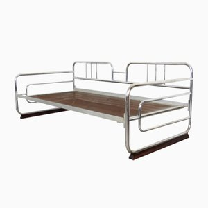 Bauhaus Chrome-Plated Tubular Steel Daybed, 1930s