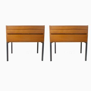 Mid-Century Teak Chest of Drawers, Set of 2
