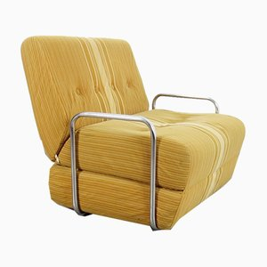Bauhaus Tubular Steel Lounge Chair, 1970s