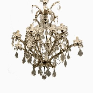 Large Crystal Murano Chandelier, 1950s