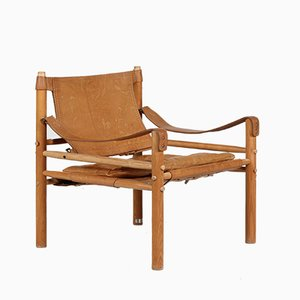 Leather Safari Lounge Chair by Arne Norell for Arne Norell AB, 1970s
