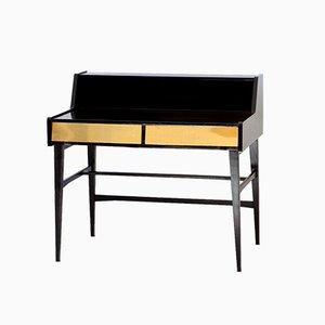 Moderner italienischer Schreibtisch mit Schubladen aus Messing, 1950er