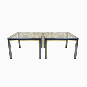 Vintage Chrome & Brass Coffee Tables by Willy Rizzo, Set of 2