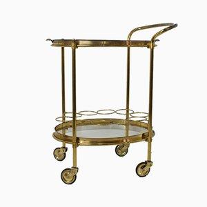 Mid-Century Brass & Glass Bar Trolley