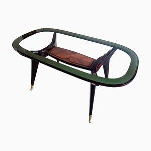 Table de Salle à Manger Ovale Mid-Century en Palissandre par Vittorio Dassi pour Dassi Mobili Moderni, Italie, 1950s
