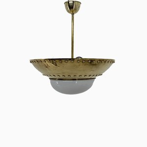 Brass Chandelier by Franta Anyz for IAS, 1920s
