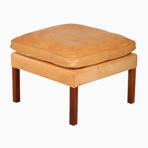 Vintage Leather 2204 Stool by Børge Mogensen for Fredericia