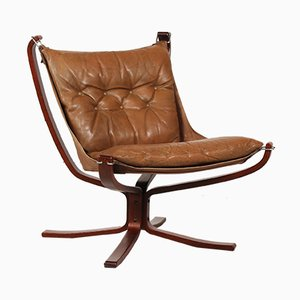 Leather Lounge Chair by Sigurd Ressell for Vatne Møbler, 1970s