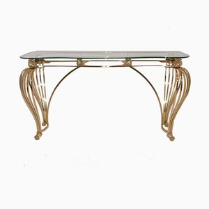 Brass Console Table, 1980s