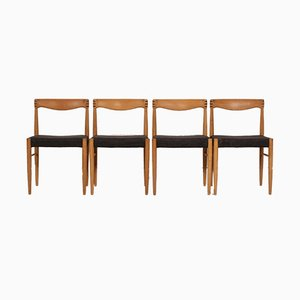 Oak Dining Chairs by H. W. Klein for Bramin, 1970s, Set of 4
