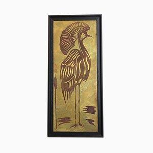 Heron on the Crest Bild von Jalley, 1970er