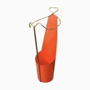 Mid-Century Italian Brass Umbrella Stand by Gio Ponti, 1950s