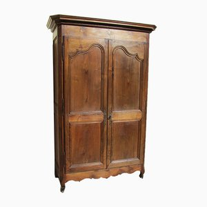 Antique Louis XV Style Solid Walnut Armoire, 1900s