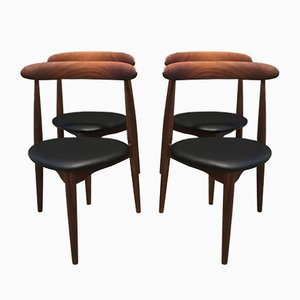 Mid-Century Dining Chairs by Hans J. Wegner for Fritz Hansen, Set of 4
