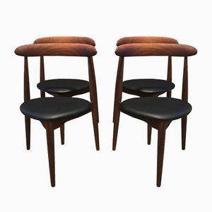 Mid-Century Dining Chairs by Hans J. Wegner for Fritz Hansen, Set of 4