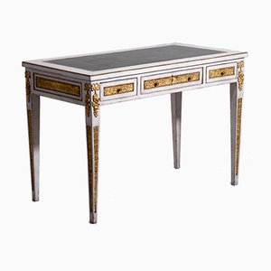 Antiker Schreibtisch aus Vergoldeter Bronze und Leder