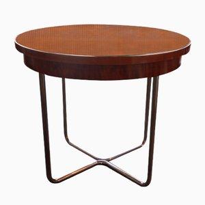Tavolino Bauhaus vintage in acciaio cromato, anni '20
