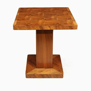 Art Deco Walnut Side Table, 1930s