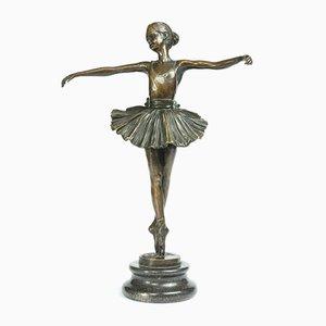 Antike Ballerina Skulptur aus Bronze von JB Deposee Garantie, 1910er