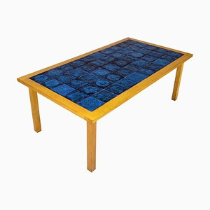 Mid-Century Scandinavian Ceramic and Teak Coffee Table from Gabrielle Citron-Tengborg, 1960s