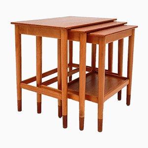 Tavolini ad incastro di Børge Mogensen per Søborg Møbelfabrik, Danimarca, anni '60
