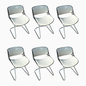 Chairs by Étienne Fermigier, 1970s, Set of 6
