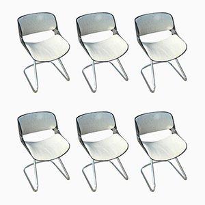 Stühle von Étienne Fermigier, 1970er, 6er Set