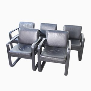 Model Hombre Armchairs by Burkhard Vogtherr for Rosenthal, 1970s, Set of 5