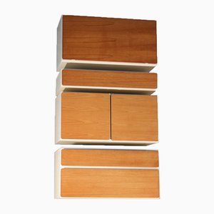 Vintage Teak and Formica Cabinets from Beaver & Tapley, 1970s, Set of 4