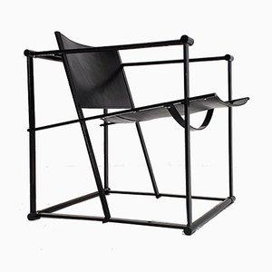 Modell FM62 Armlehnstuhl aus Stahl & Leder von Radboud Van Beekum für Pastoe, 1980er